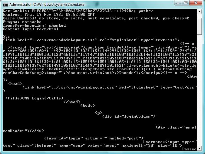 code in telnet